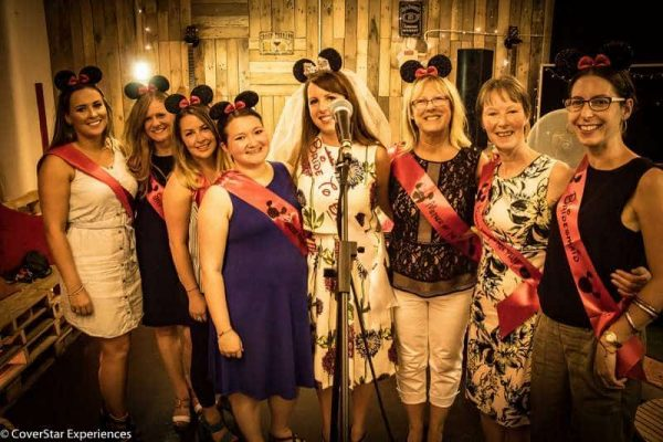 Hen Do singing Greatest Showman