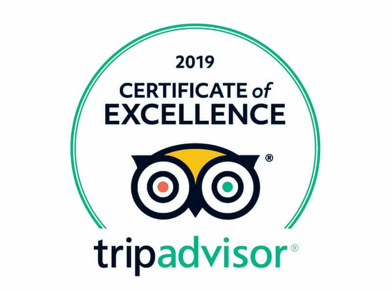 An Image of a trip advisor certificate of excellence